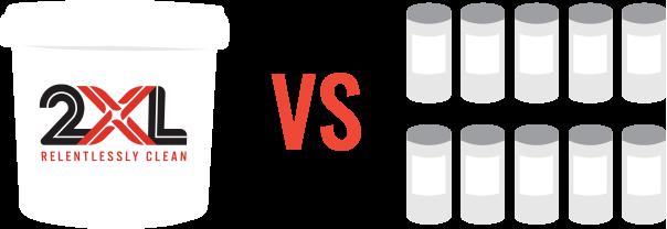 2XL's bigger rolls versus smaller count canisters