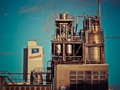 Photo of an industrial plant.