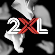 2XL logo with wipes falling in background.
