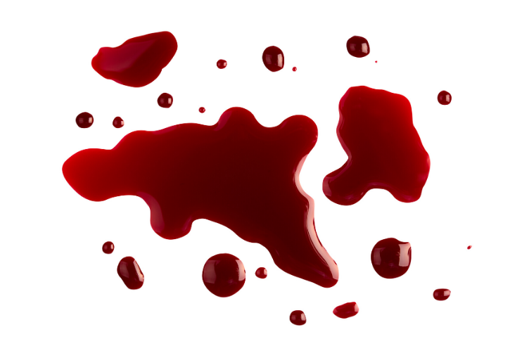 Use a disinfectant cleaner when a surface has come into contact with blood.