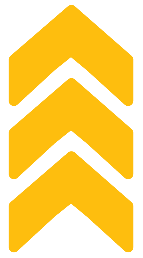 Three yellow arrows pointing up.