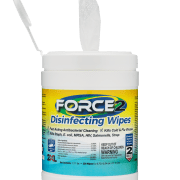 Front view of open Force2 Disinfecting Wipes.