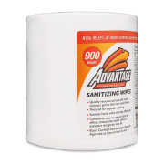 Side view of Advantage Sanitizing Wipes.