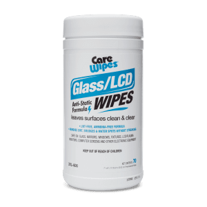 Front view of Care Wipes Glass/LCD Wipes.