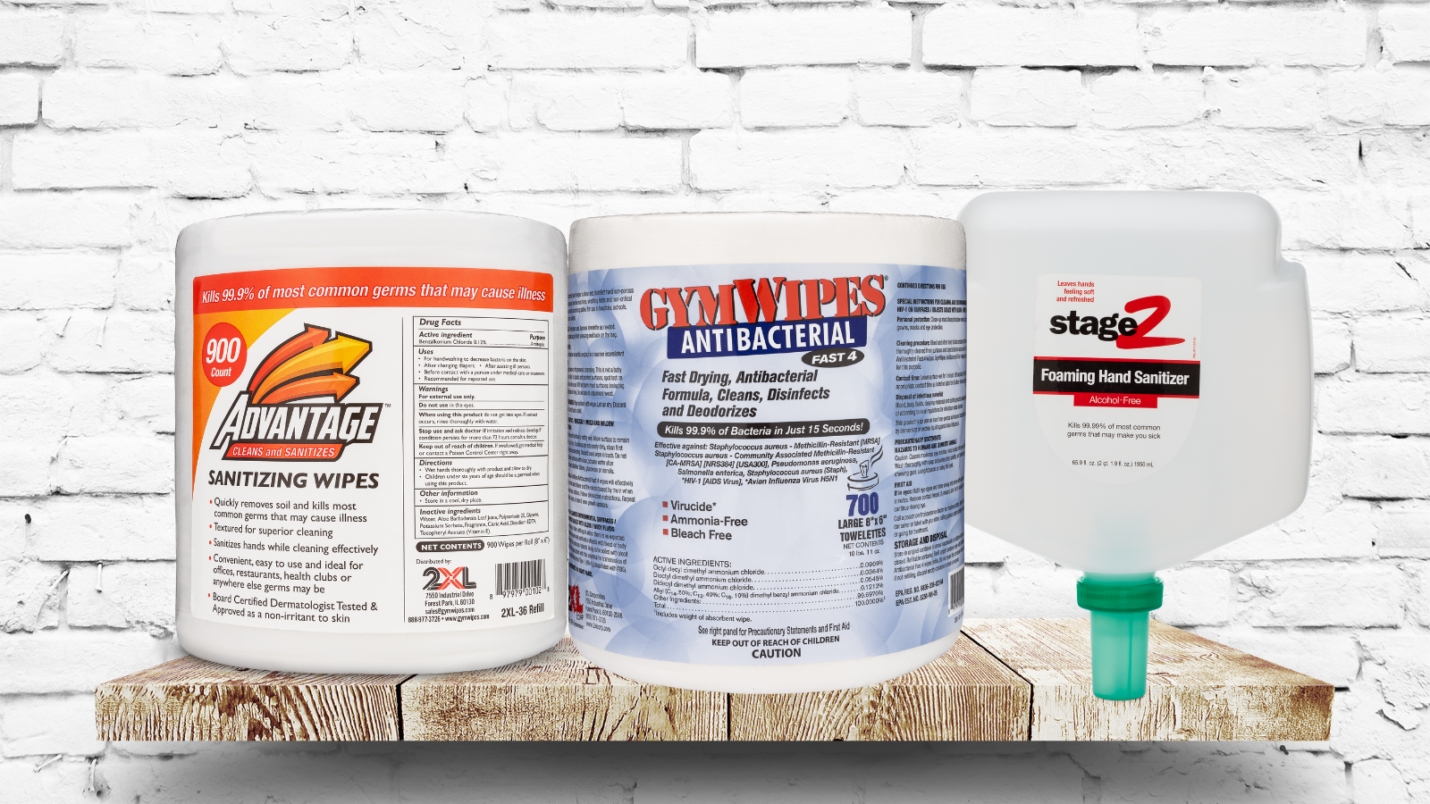 Wipes, sanitizers, and disinfectants are cleaning tools you should always have in stock.